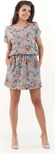 Sukienka Lou-Lou z okrągłym dekoltem mini rozkloszowana