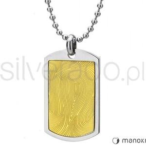 Silverado stalowo - złoty naszyjnik z odciskiem palca ze stali szlachetnej 77-wa242g