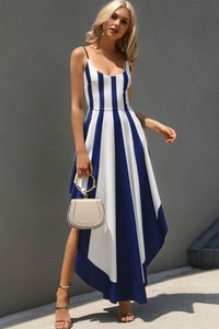 Sukienka IVET.PL asymetryczna z bawełny midi