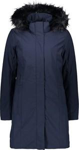 Granatowy płaszcz CMP w stylu casual z tkaniny