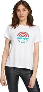 T-shirt Wrangler z bawełny w młodzieżowym stylu z krótkim rękawem