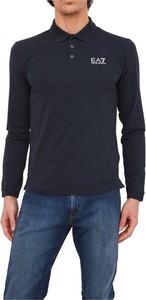Niebieski t-shirt Emporio Armani z długim rękawem w stylu casual