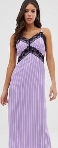 Fioletowa sukienka Glamorous na ramiączkach