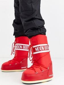 Czerwone buty zimowe Moon Boot
