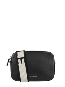 Czarna torebka Coccinelle z tkaniny na ramię