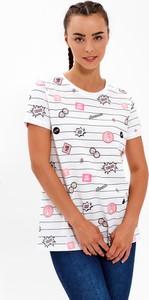 T-shirt Gate z nadrukiem z bawełny z krótkim rękawem