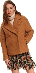 Brązowy płaszcz Top Secret z wełny