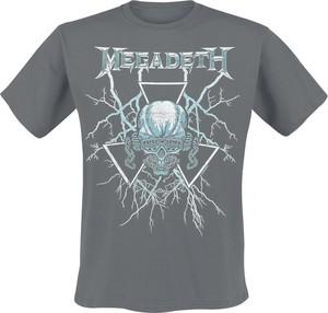 T-shirt Megadeth z krótkim rękawem z bawełny
