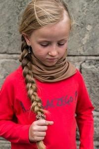 Brązowy szalik dziecięcy M-art-a-baby