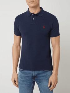Granatowa koszulka polo POLO RALPH LAUREN z bawełny