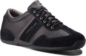 Czarne buty sportowe Camel Active z zamszu w stylu casual sznurowane