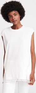 T-shirt Reserved z okrągłym dekoltem z krótkim rękawem w stylu boho