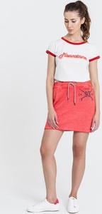 T-shirt Diverse z krótkim rękawem z okrągłym dekoltem w stylu casual