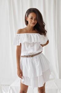 52c68ce69f17dd zara sukienka koronkowa ażurowa biała s 36 - stylowo i modnie z Allani