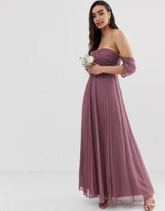Fioletowa sukienka Asos maxi