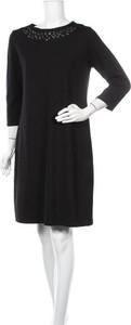 Czarna sukienka Lc Waikiki mini z długim rękawem prosta
