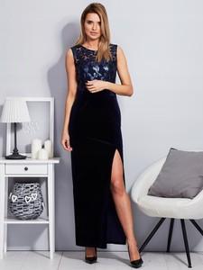 Sukienka Inna bez rękawów maxi z okrągłym dekoltem
