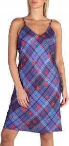 Niebieska sukienka Tommy Hilfiger mini w stylu casual z dekoltem w kształcie litery v