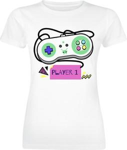 T-shirt Emp w młodzieżowym stylu z bawełny z okrągłym dekoltem