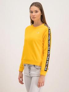 Żółta bluza Fila w młodzieżowym stylu krótka