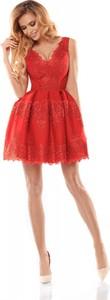 Sukienka Bicotone gorsetowa z dekoltem w kształcie litery v bez rękawów