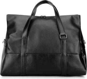 Czarna torba podróżna Wittchen ze skóry ekologicznej