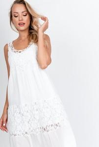 Sukienka Zoio mini z okrągłym dekoltem w stylu casual