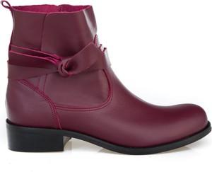 Fioletowe botki Zapato