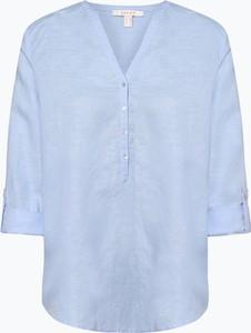 Niebieska bluzka Esprit z bawełny w stylu casual