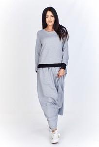 Sukienka Bien Fashion z dresówki maxi w stylu casual