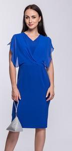 Sukienka Semper dopasowana bez rękawów z dekoltem w kształcie litery v