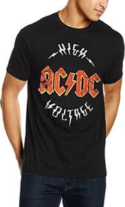 Czarny t-shirt Rockoff Trade z krótkim rękawem z nadrukiem