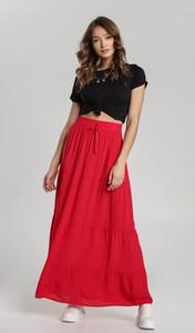 Czerwona spódnica Renee maxi