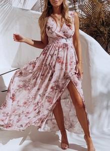 Sukienka Sandbella maxi kopertowa