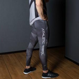 Spodnie sportowe Athletic Rebel w geometryczne wzory