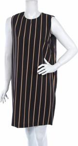 Czarna sukienka Sandro Ferrone bez rękawów prosta z okrągłym dekoltem