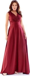 Sukienka Ptakmoda.com maxi bez rękawów z dekoltem w kształcie litery v