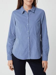 Bluzka Montego z bawełny z dekoltem w kształcie litery v