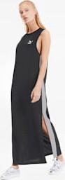 Czarna sukienka Puma prosta z bawełny maxi