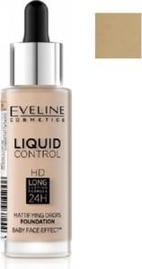 Eveline, Liquid Control HD, podkład do twarzy z dropperem, 030 Sand Beige, 32 ml