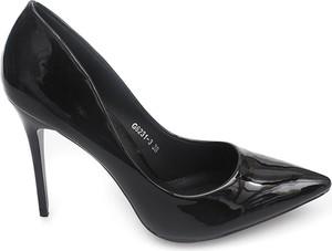 Czarne szpilki Gemre w stylu glamour na wysokim obcasie na szpilce