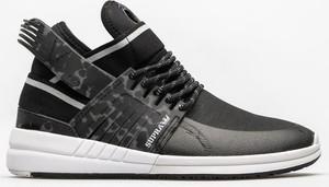 Czarne buty sportowe Supra w sportowym stylu sznurowane