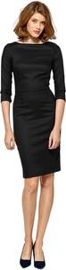 Czarna sukienka Colett z okrągłym dekoltem