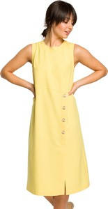Sukienka BeWear z dekoltem w kształcie litery v midi