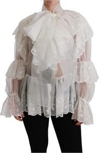 Bluzka Dolce & Gabbana z długim rękawem z dekoltem w kształcie litery v