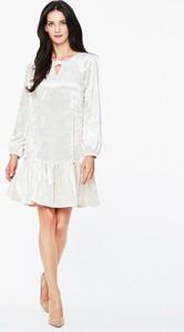 Sukienka L'AF z weluru mini