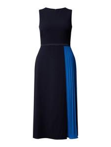 Granatowa sukienka Ralph Lauren bez rękawów maxi z okrągłym dekoltem
