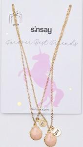Sinsay - Naszyjniki dla przyjaciółek - Złoty