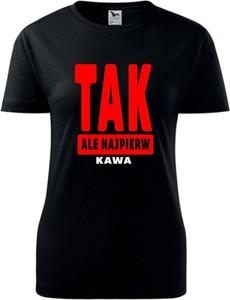 T-shirt TopKoszulki.pl z bawełny z krótkim rękawem z okrągłym dekoltem