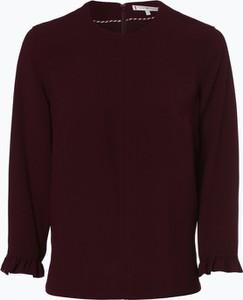 Fioletowa bluzka Tommy Hilfiger z długim rękawem z okrągłym dekoltem